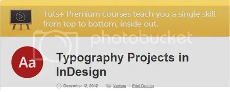 Tuts+ Premium - Typography Projects in InDesign