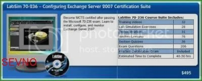 TestOut - MCTS 70-236 Certified Configuring Exchange Server 2007 Certification Suite