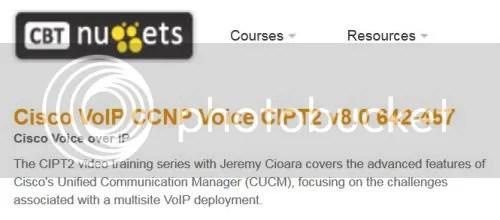CBT Nuggets - Cisco VoIP CCNP Voice CIPT2 v8.0 642-457