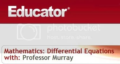 Educator - Mathematics: Differential Equations with Professor Murray