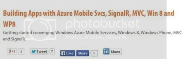 Pluralsight - Building Apps with Azure Mobile Svcs, SignalR, MVC, Win 8 and WP8