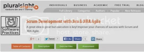Pluralsight - Scrum Development with Jira & JIRA Agile