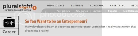 Pluralsight - So You Want to be an Entrepreneur?