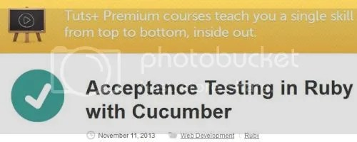 Tuts+ Premium - Acceptance Testing in Ruby with Cucumber Training