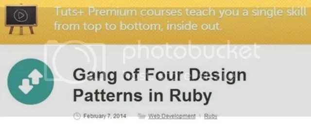 Tuts+ Premium - Gang of Four Design Patterns in Ruby