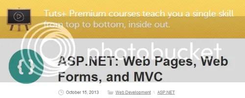 Tuts+ Premium – ASP.NET: Web Pages, Web Forms, and MVC