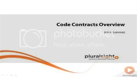 Pluralsight - Code Contracts