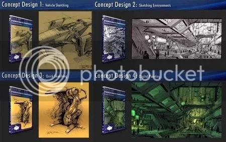 The Gnomon Workshop - Concept Design ( 4 Volume )
