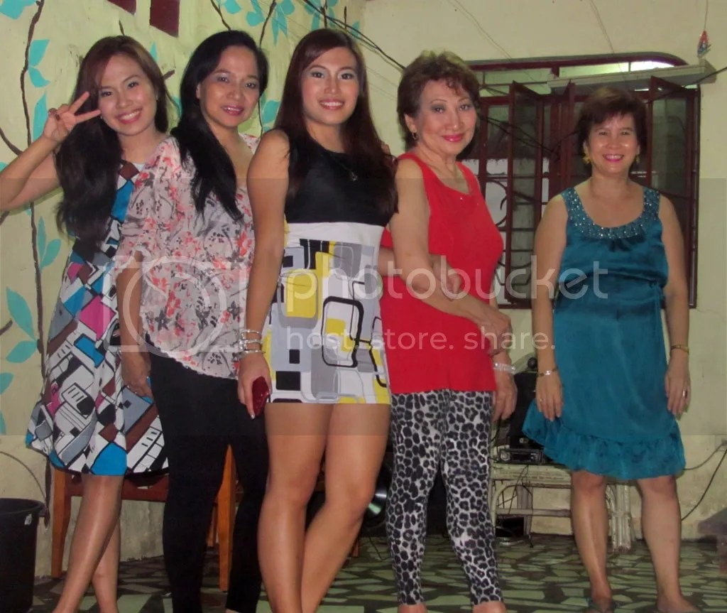 With Mariah, Mama, Mommy, and Tita Angie