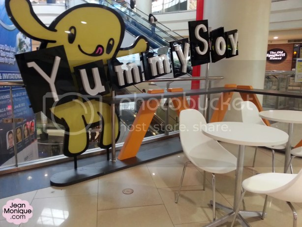 YummySoy dining logo and dining area