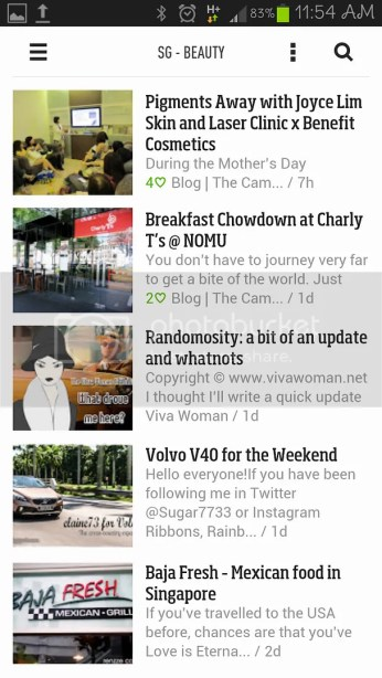 Feedly Android App - View of Unread Posts