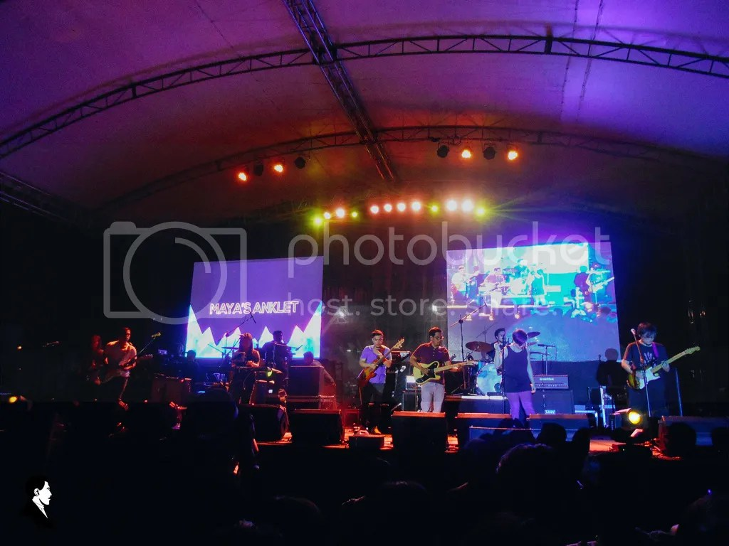 The band Maya's Anklet performing on the second night of the UP Fair 2016, titled Overdrive, held by the UP Geodetic Engineering Club and the Tau Alpha Fraternity. Photo by Paul Gumagay.
