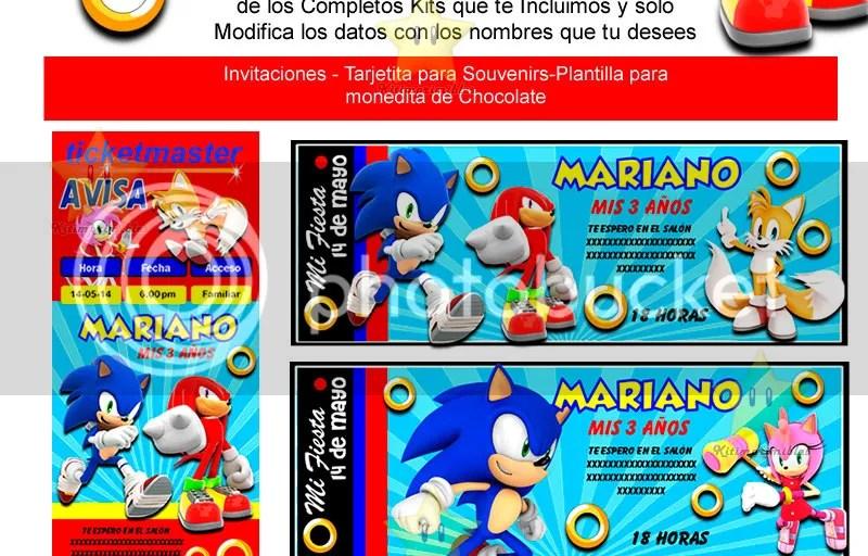 Extraordinario Invitaciones Gratis Sonic Tarjeta De Invitaci