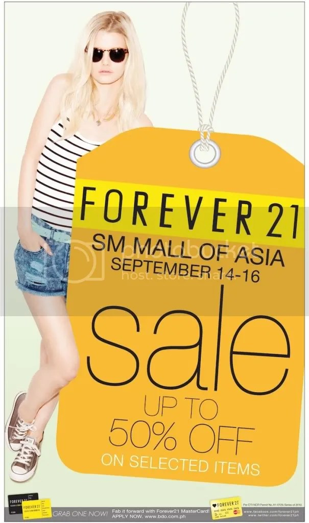 forever 21 sm moa sale Forever 21 SM Mall of Asia 3 Day Sale