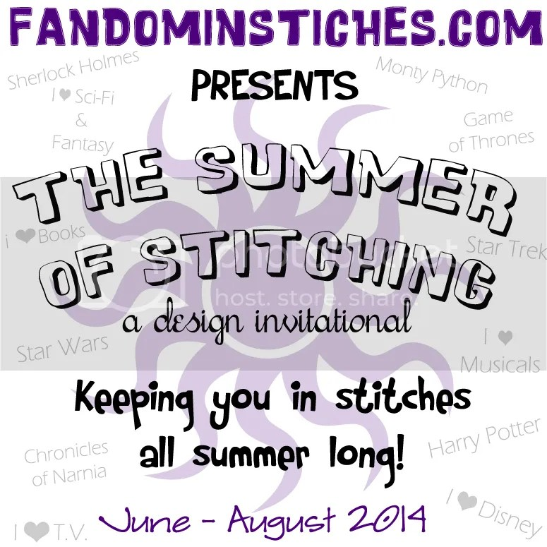 Summer of Stitching 2014, A Design Invitational on fandominstitches.com