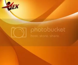 Orange Curvacious Background - PowerPoint Background
