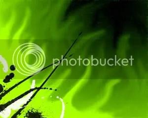 SPLAT Neon Fire - PowerPoint Background