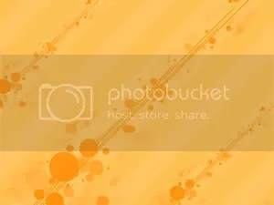 orange circle - PowerPoint Background