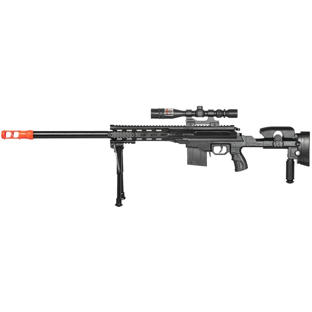 Ukarms Airsoft Black Ops Spring Sniper Rifle Gun W Laser