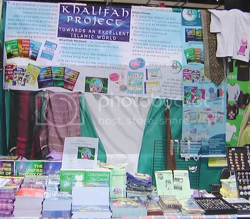 Khalifah Project booth at the ISNA Conference 2006 in Chicago