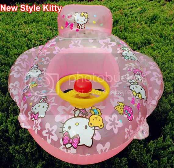 Baby Kid Toddler Boy Girl Swim Pool Bath Boat Ring Raft