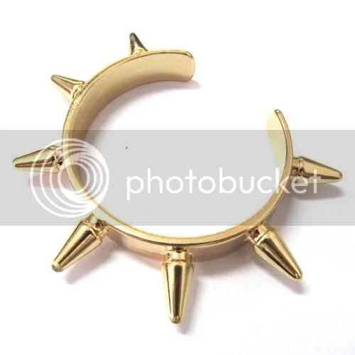 Gold spike cuff bracelet