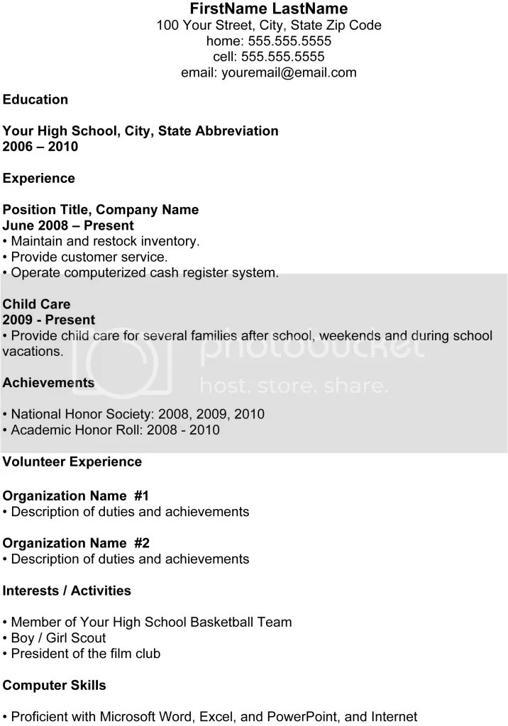 resume education high school teacher resume examples high school ...