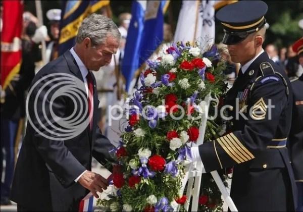 president bush golfs wounded veterans warrior open tournament 13 respectful