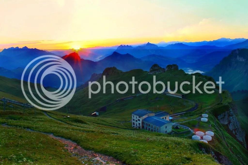 Sunrise at Rochers de Naye