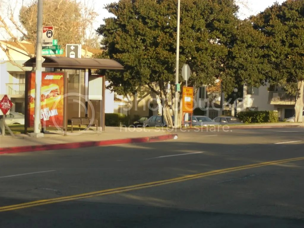 The turn onto Rancho Mission Road