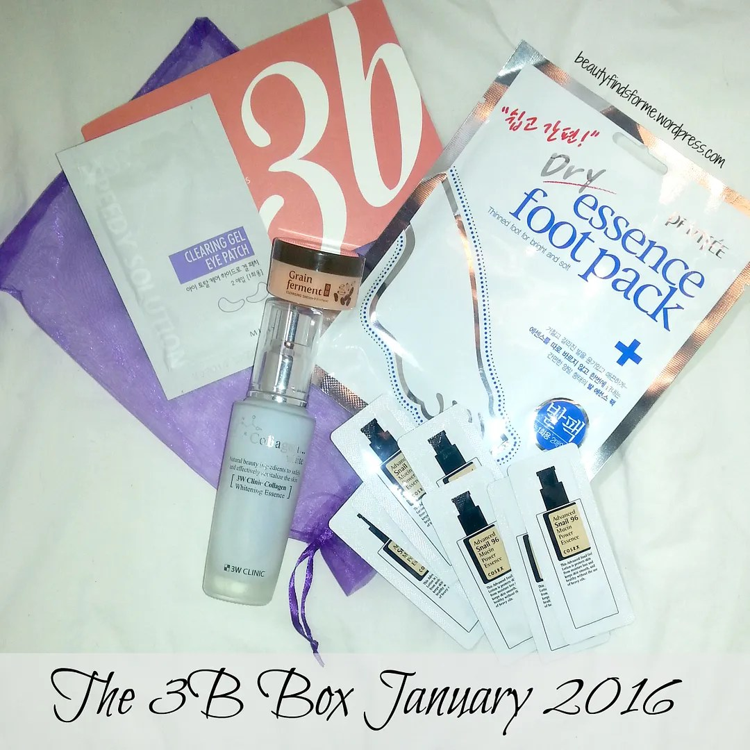 Unboxing March 2016 The 3b Box Beauty Secret Key Aloe Fresh Toner 248ml Informational Card