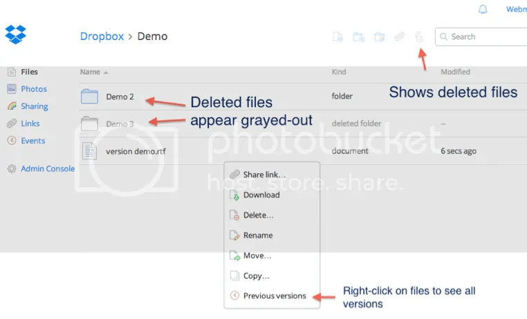 Dropbox Packrat