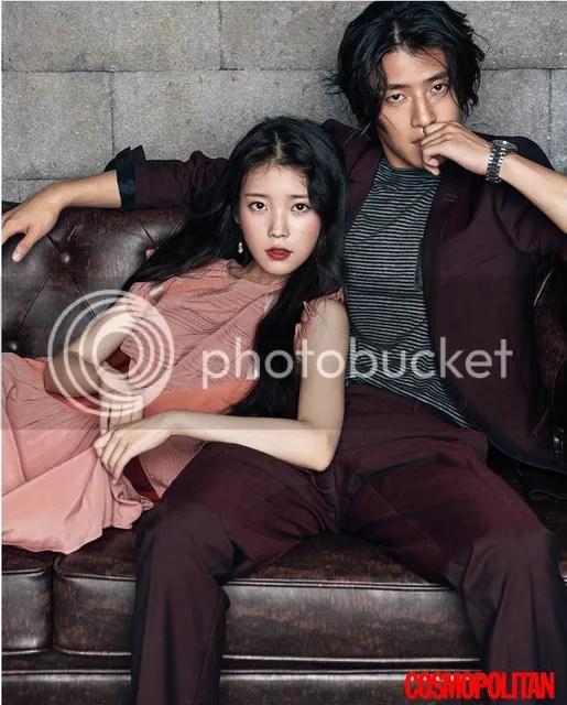 IU y Kang Haneul para Cosmopolitan, agosto de 2016. 1