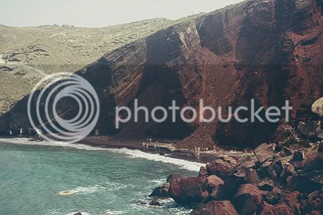 Akrotiri, Playa Roja. Santorini, Grecia
