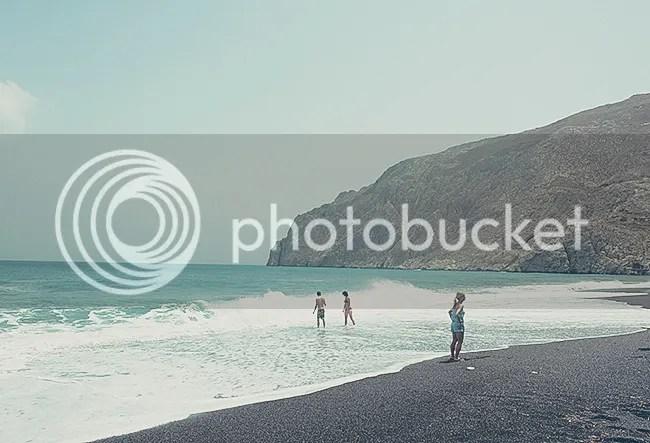 Kamari, la Playa Negra. Santorini, Grecia