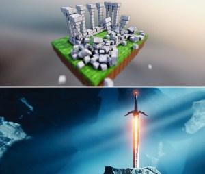 Blender Fast Track Vol. 1-2 – Minecraft, Sword in the Stone (Blender 2.90)