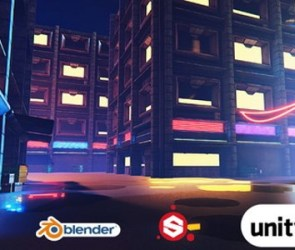 Udemy Blender Cyberpunk in Unity HDRP (Blender 2.82, Substance Painter 2019.3.3, Unity 2019.3)