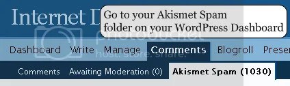 wordpress comments akismet dashboard