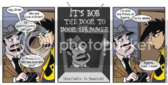 penny arcade bob the door to door spam salesman