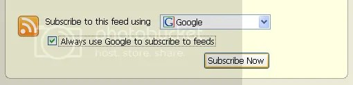 always use google reader to subscribe to rss
