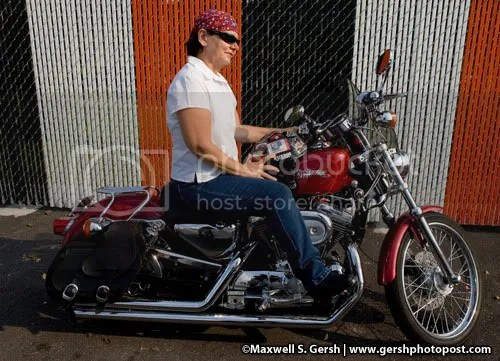 Katie's mom on Harley. Maxwell S. Gersh   www.gershphoto.com