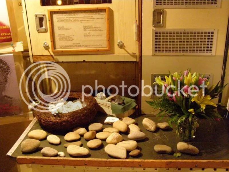Steine und Blumen