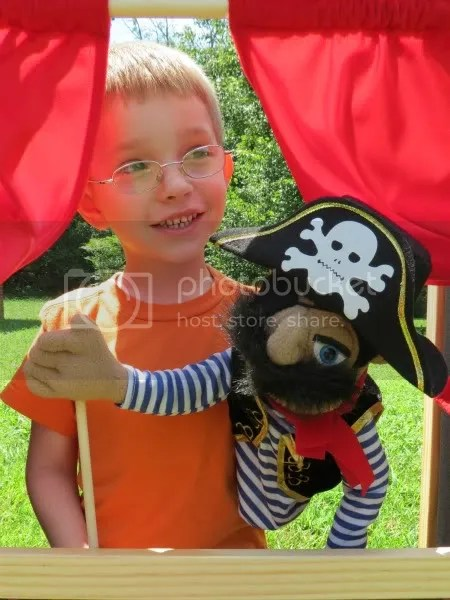 Pirate Puppet with Melissa & Doug Puppet Theater