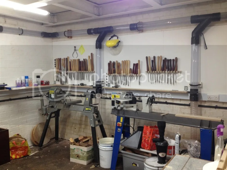 Calne Men's Shed dust extraction