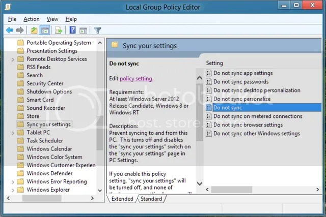 Local Group Policy Editor Windows 8