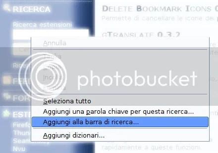 COME PERSONALIZZARE LA BARRA DI RICERCA SU FIREFOX