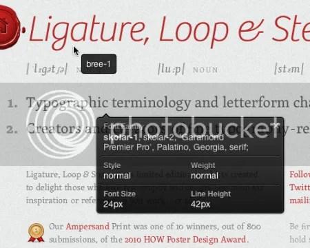 Come identificare un font contenuto in una pagina web