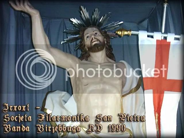 L-Irxoxt - Statwa rapprezentattiva u devota tas-Soċjeta Filarmonika San Pietru, Banda Birżebbuġa A.D. 1990