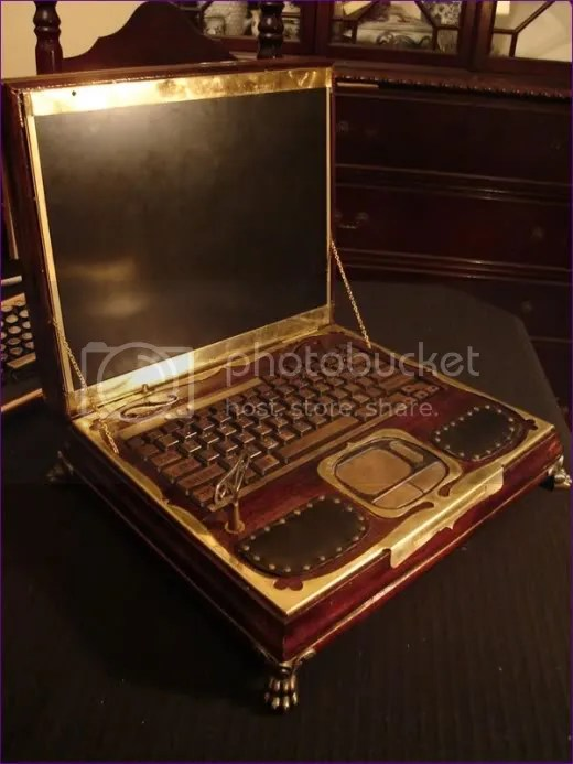 Steampunked Laptop