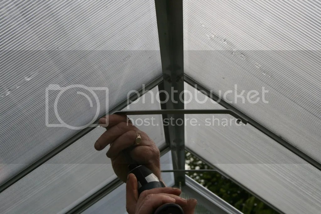 grow master greenhouse extra roof bracing